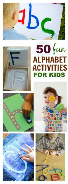 30+ Alphabet Activities for Kids. Pin! Great ideas here!