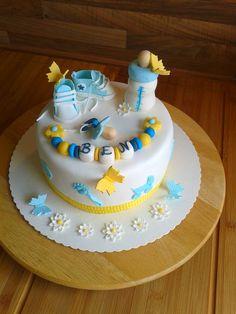 Torte blau gelb