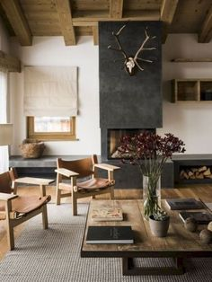 85 Modern Rustic Living Room Furniture Awesome 45 Cozy Modern Rustic Living Room Decor Ideas You Must Try Living Room Remodel, Home Living Room, Living Room Designs, Living Room Decor, Rustic Living Room Furniture, Wooden Furniture, Furniture Ideas, Fireplace Furniture, Modern Rustic Furniture