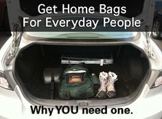 Get Home Bags for Everyday People! Printable packing list linked!