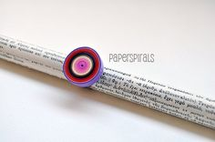 Quilled Paper Ring  Colorful Spiral by PaperSpirals on Etsy, €13.80