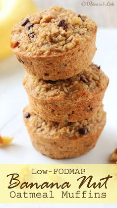 Low-FODMAP Banana Nut Baked Oatmeal Muffins / Delicious as it Looks