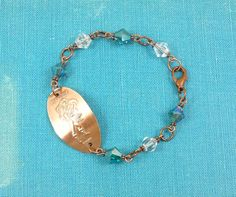 Disney - ARIEL and ERIC - Swarovski Bead Bracelet - Pressed Penny  -  Limited Edition I could make this . . .