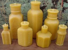 Glass bottles into candles