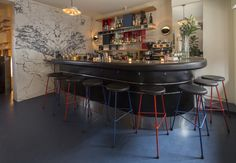 A sexy restaurant with an unusual French menu. Your next date night should be at Mimi.