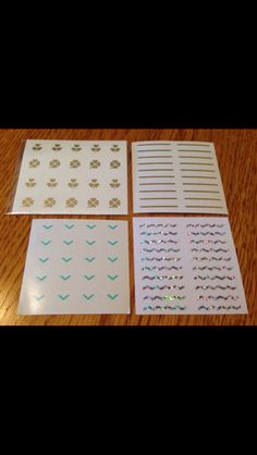 Julep nail decals $8.00 for 4 or $2.50 each