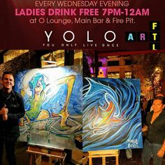"Great first night of our ""YOLO Live"" Pop-up Series @yolorestaurant featuring @toddthepainter & @_visualove_  The pieces included in this pop-up series of events will be on display in an incredible multi-sensory experience featuring a Live Art reproduction of a 3 dimensional version of the Art Fort Lauderdale logo (see image from our ad in Venice Magazine attached).   Standing over 4ft tall a 3 dimensional cube/box (4x4x4x4) will feature 20 live art panels that will be hand-painted on…"
