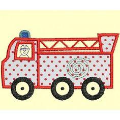Motif de broderie appliqué camion de pompier Applique, Couture, Toys, Car, Jeans, Pattern, Handicraft, Projects, Activity Toys