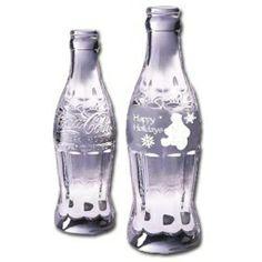 Solid Lead Crystal Coca-Cola Polar Bear Bottle