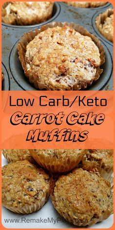Low Carb Keto Carrot Cake Muffins