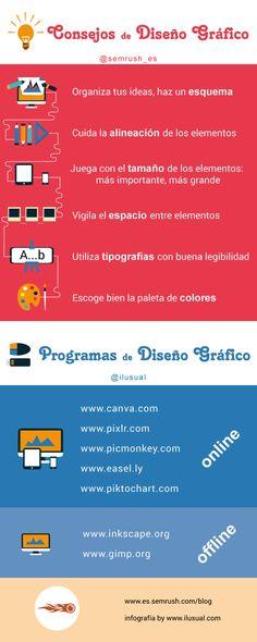 10 consejos de Diseño Gráfico #infografia #infographic #design | TICs y Formación