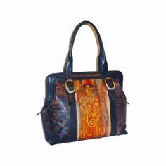 Ručne maľovaná kabelka 8221 inšpirovaná motívom Gustav Klimt