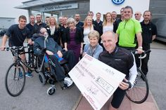 Staff from our Volkswagen dealerships have raised £2,342 for York & District Against Motor Neurone Disease (YAMND) in support of a colleague who was recently diagnosed with this debilitating condition.... http://www.jct600.co.uk/news/volkswagen_charity_cycle_ride_raises_over_-2-300__-126305/