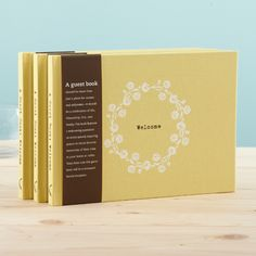 Adorable guest book for your summer home!