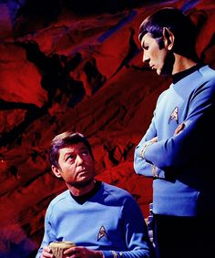 star trek tos spock & mccoy
