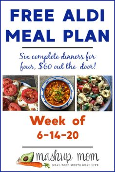 Cheap Meal Plans, Aldi Meal Plan, Cheap Meals, Free Meal Plans, Meal Prep, Aldi Recipes, Healthy Recipes On A Budget, Real Food Recipes, Frugal Meals