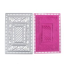 Metal Steel Rectangle Frame Hollow Out Cutting Dies Stencil For DIY Scrapbooking Album Paper Card Photo Decorative Craft die cut(China (Mainland))