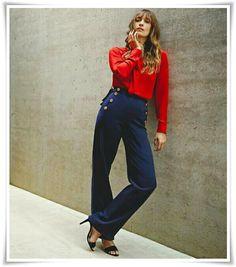 28b244c7b7ad9 Estilo fashionista parisiense  Caroline de Maigret. Styliste · Mode Tendance  · Pantalon À Pont · Bonne Femme ...