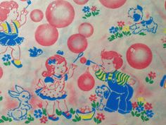 Vintage Gift Wrapping Paper  Juvenile by TheGOOSEandTheHOUND, $3.00