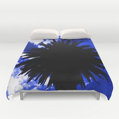 Palm Trees Silhouette - Groove Of Midnight Duvet Cover