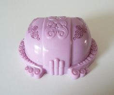 Purple Lavender Ring Box Celluloid Plastic by TreasuresOfGrace
