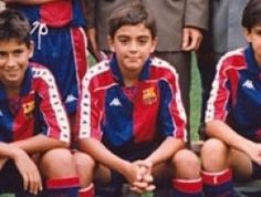 Xavi Hernandez, de niño.