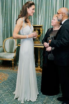 In Amanda Wakeley. I want to be her sometimes.