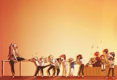 #Dance #Classic #orange #illustration #pinkHair #Hair