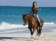 would love to ride a horse on the beach