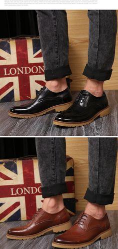 Aliexpress.com : Buy New Fashion Men Oxfords Cow Split Bullock Style Dress…