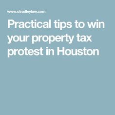 Practical tips to win your property tax protest in Houston Property Tax, Criminal Justice, Tips, Real Estate, Ideas, Real Estates, Thoughts, Counseling