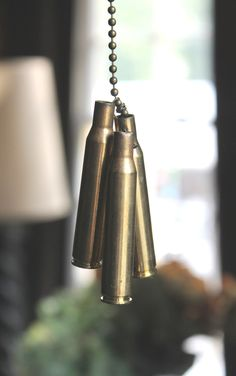 Bullet Casing Fan Pull I can do this myself! Ammo Crafts, Bullet Crafts, Ceiling Fan Pulls, Gun Rooms, Bullet Casing, Bullet Jewelry, My Room, Man Cave, Household