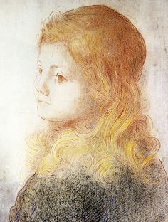 Odilon Redon - Child Marcel Mellerio or the Blonde Child,1899 at The Kreeger Art Museum Washington DC