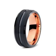 4d9b7df75f4 tungsten ring Picture - More Detailed Picture about Nice 2 Color Tungsten  Ring Black Rose Gold Tungsten Wedding Ring For Men And Women Picture in  Rings from ...