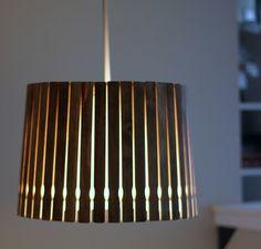 DIY Pendant Light   17 Amazing DIY Paint Chip Projects