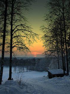 Sunset, Falun, Sweden