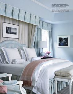 By Mary McDonald. Love the valance that lines up across the room.