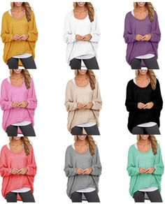 plus size and flattering! loose long sleeve round neck top