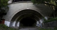 PA Turnpike tunnel: The light at the end of the tunnel can be seen from both ends, but the tunnel is much longer than you'd first anticipate. There's plenty of graffiti inside,