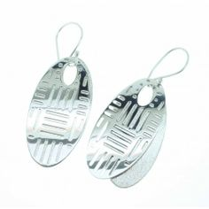 Jon Black Jewellery Sterling Silver Mirror and Frosted Finished Drop Earrings Price: £49.00  Availability: 1