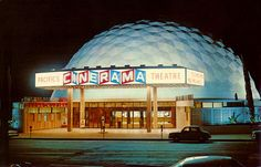 Pacific's Cinerama Theatre, LA CA, 1963 by Roloff, via Flickr