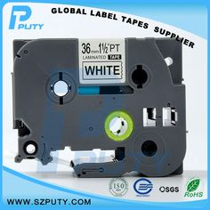 10 packs TZe-S261 36mm Black on White TZ-S261 compatible label tapes for ptouch label printers #Affiliate