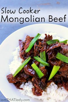 PF Changs Mongolian Beef is SOOO good. There are a lot of good copycat recipes out there, but this one is a slow cooker version! Super Easy!