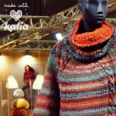 #Katia next #Autumn-Winter #collection in H+H Cologne 2014 | #hhcologne #multicolored #yarns #stripes #knitting