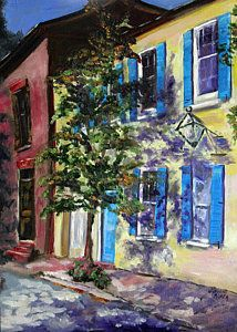 Charleston Painting - Kissed By Shadows by Jennifer Koach