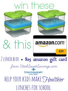 Win 2 Lunchblox and a $25 Amazon Gift card from @Utah SweetSavings