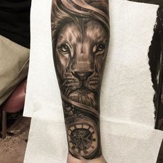 Lion & pocket watch