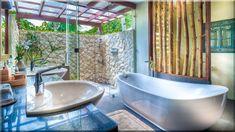 egzotikus kerti fürdőszoba szép lakások (Luxuslakás 7) Clawfoot Bathtub, Philippines, Villa, Pure Products, Shower, Bathroom, Diy, Rain Shower Heads, Washroom