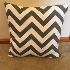 Grey and white chevron print pillow cover Grey and white chevron print pillow cover. No pillow included, just cover! Smoke free home pet free home. Hobby lobby Other