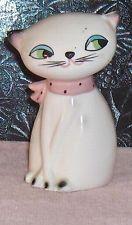 Holt Howard   Cat Shaker with Pink Scarf Vintage Figurine  Shaker
